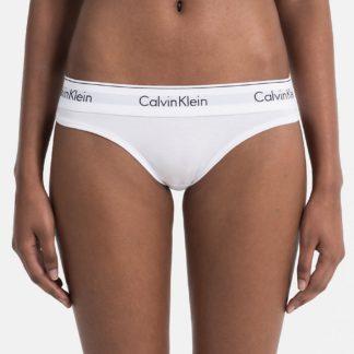 Calvin Klein bílá tanga s bílou širokou gumou Thong Strings