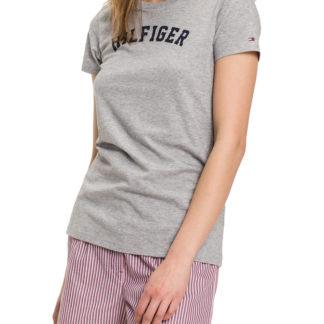 Tommy Hilfiger šedé tričko Tee Print