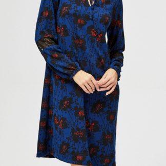 Moodo modré šaty se zavazováním
