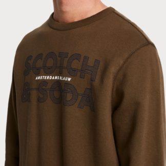 Scotch & Soda khaki pánská mikina Amsterdams Blauw