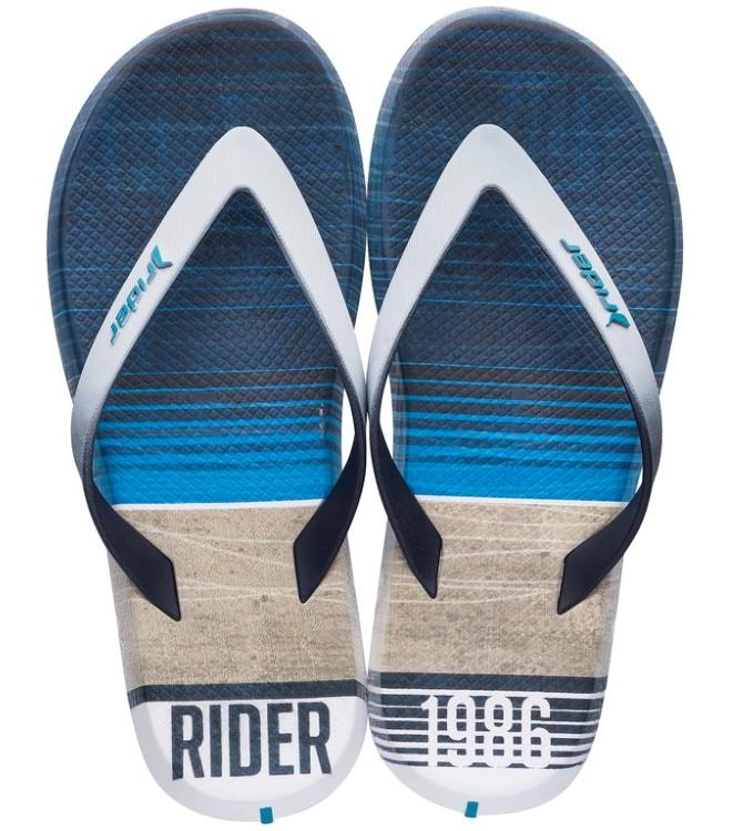 Rider modré pánské žabky R1 Energy Ad White/Blue