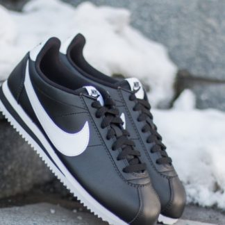 Nike Wmns Classic Cortez Leather Black/ White-White