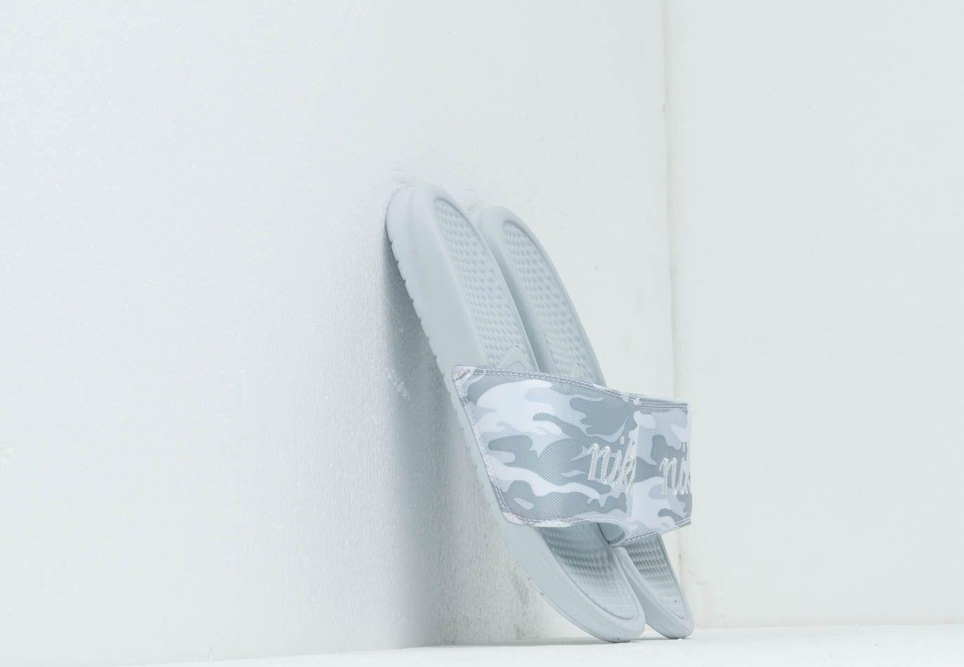 Nike Wmns Benassi Jdi Txt Se Pure Platinum/ Mtlc Platinum-White