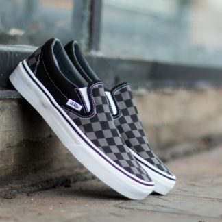 Vans Classic Slip-On Black/ Pewter Checkerboard