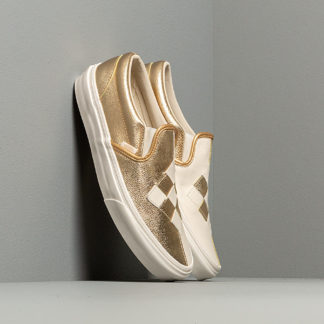 Vans Classic Slip-On (Woven Leather) Brushed Gold