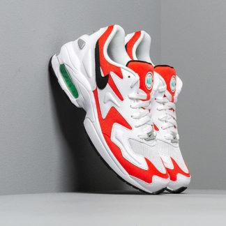 Nike Air Max2 Light White/ Black-Habanero Red-Cool Grey