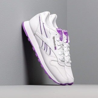 Reebok CL Leather White/ Grape Punch