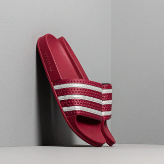 adidas Adilette Core Burgundy/ Ftw White/ Core Burgundy