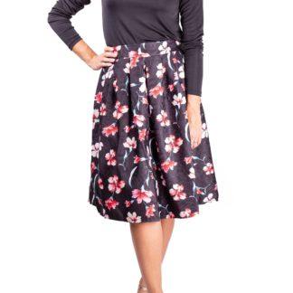 Simpo dámská sukně Black Flowers