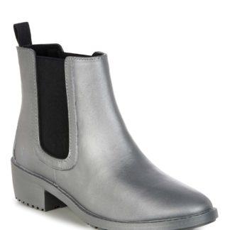Emu Australia stříbrné kotníkové plastové boty Ellin Rainboot Silver