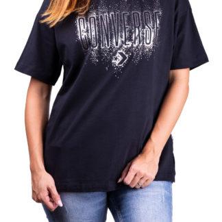 Converse černé tričko Black/Silver