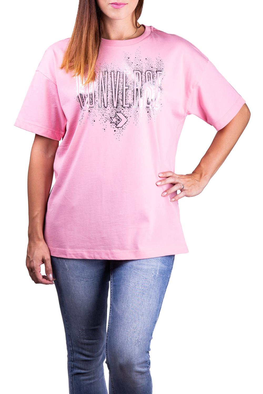 Converse růžové tričko Pink/Silver