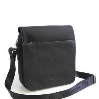 Černá kožená taška Hexagona 292684 černá