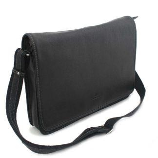 Černá kožená taška Hexagona 463136 černá