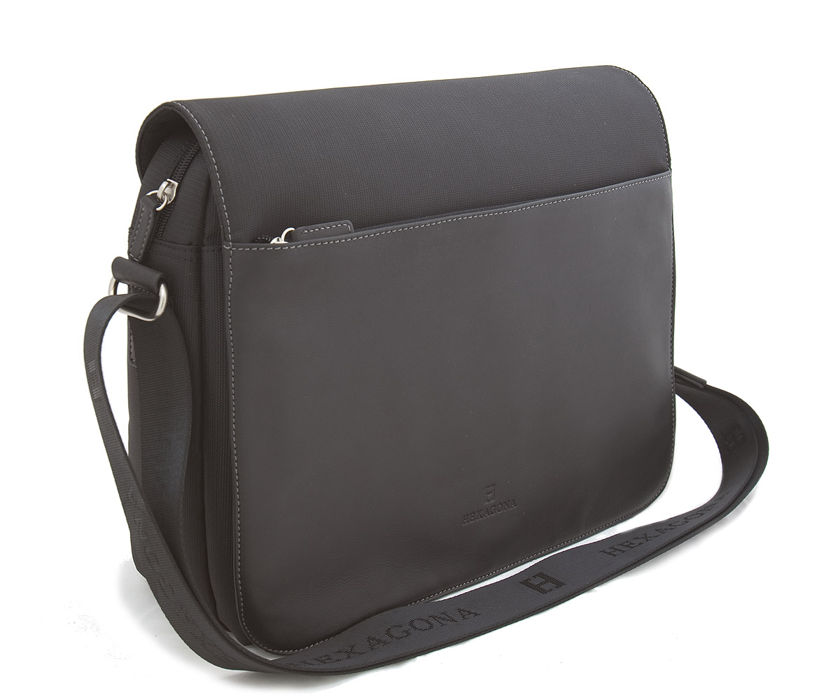 Černá pánská kožená taška Hexagona 292682 černá