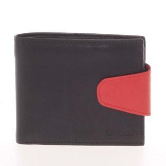 Pánská kožená peněženka černá - Delami 11816 černá