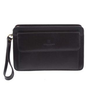 Černé luxusní pánské kožené etue 110482 černá