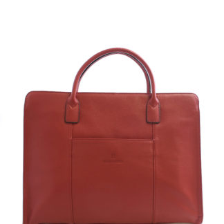 Dámská kabelka červená kožená - Hexagona 462698   červená