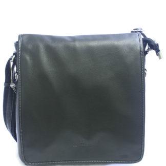 Černá kožená taška přes rameno Hexagona 469563 černá