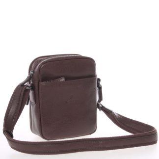 Hnědá luxusní kožená taška na doklady Hexagona 123477 hnědá