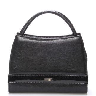 Černá menší kabelka do společnosti Royal Style s ornamentem S001 černá