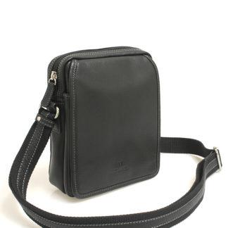 Černá luxusní kožená dokladovka Hexagona 469565 černá