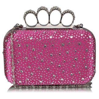 Luxusní růžové kamínkové psaníčko s boxerem LSE00119 růžová