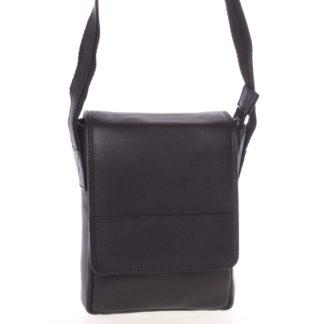 Kožená pánská crossbody taška na doklady černá 0213 černá