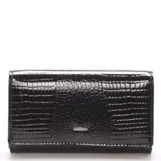 Černá kožená peněženka Angela Moretti WL22 černá