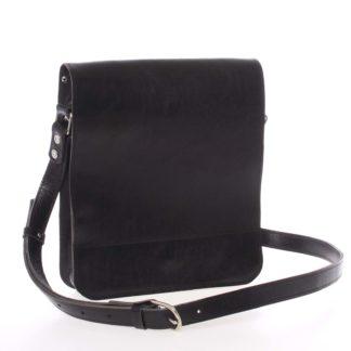 Černá luxusní kožená taška přes rameno Kabea Luxor černá