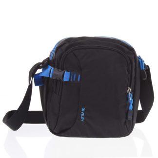 Černo-modrá taška přes rameno Diviley Cecil modrá