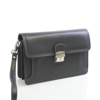 Pánské černé luxusní kožené etue Hexagona 69376 černá