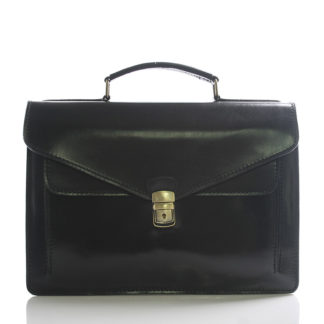 Luxusní černá kožená aktovka ItalY Kevin černá
