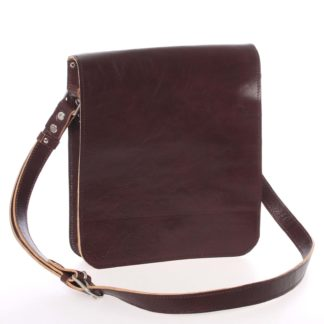 Tmavě hnědá luxusní kožená taška přes rameno Kabea Luxor hnědá