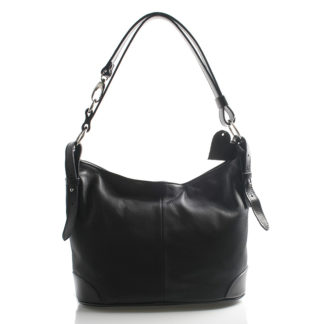 Černá kožená kabelka přes rameno crossbody ItalY Harmony černá