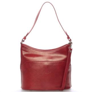 Červená kožená kabelka přes rameno ItalY Lydia červená