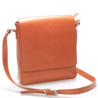 Pánská luxusní kožená taška přes rameno světle hnědá - ItalY Crosby hnědá