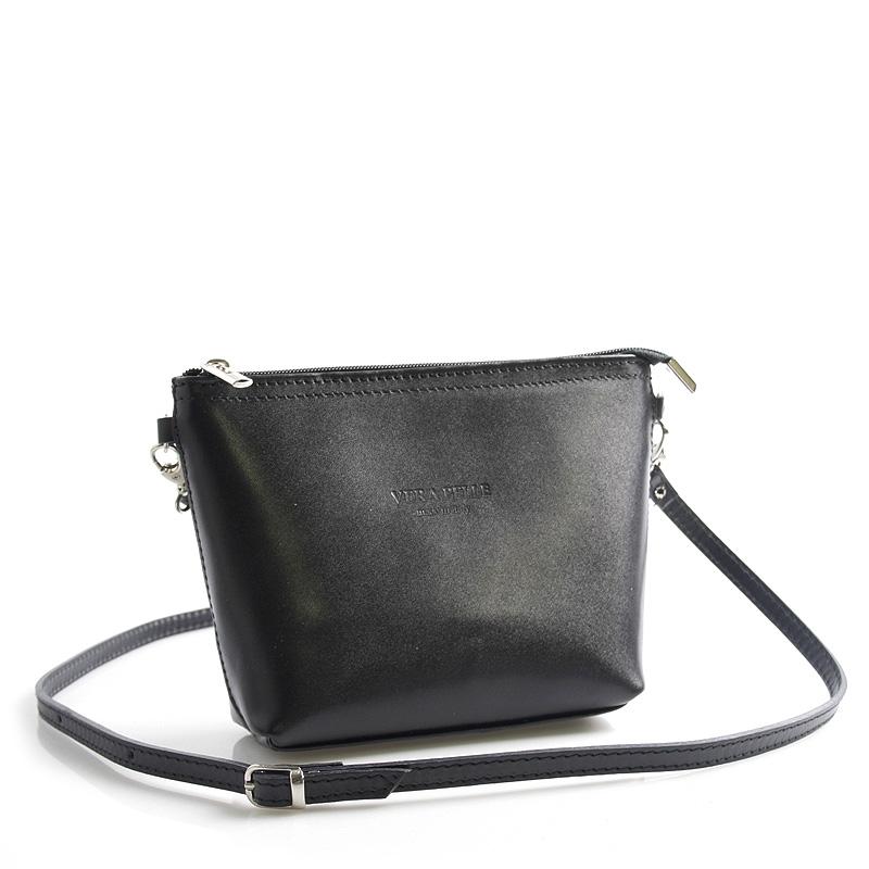 Černá kožená crossbody kabelka ItalY Garnet černá