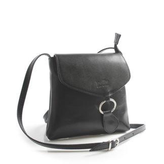 Černá kožená crossbody kabelka ItalY Saffie černá