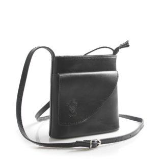 Dámská kožená crossbody kabelka černá - ItalY Cora černá