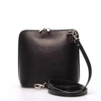 Dámská kožená crossbody kabelka černá - ItalY Hannah černá