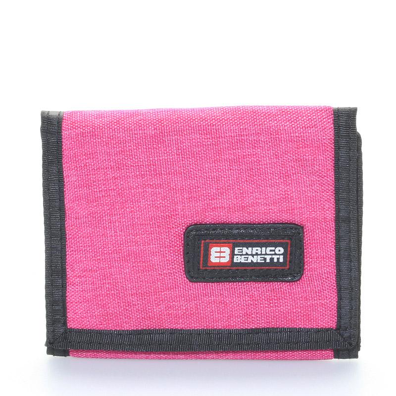 Peněženka látková růžová - Enrico Benetti 4500 růžová
