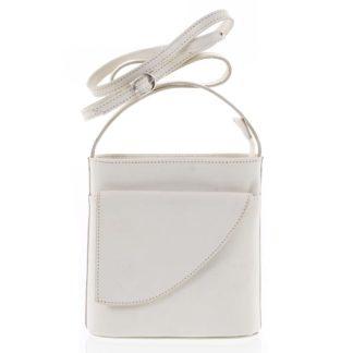 Dámská kožená crossbody kabelka béžová - ItalY Cora Light béžová