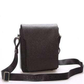 Elegantně sportovní taška přes rameno na doklady černá - Gerard Henon Rene černá