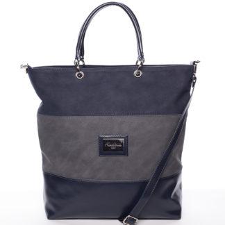 Dámská elegantní kabelka přes rameno tmavě modro šedá - Delami Patricia modrá