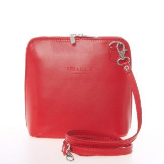 Dámská kožená crossbody kabelka červená - ItalY Hannah červená
