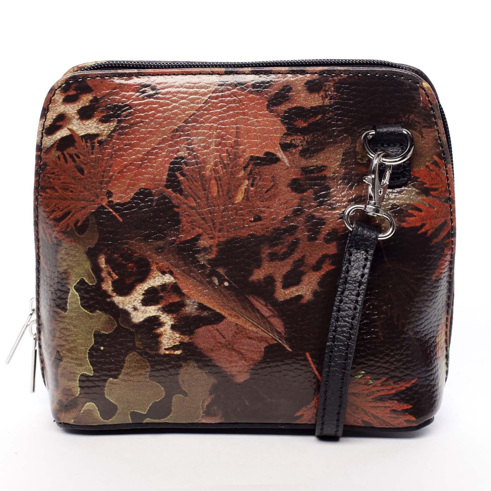 Dámská kožená crossbody kabelka podzimní černá - ItalY Hannah černá