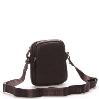 Pánská kožená taška přes rameno na doklady hnědá - Gerard Henon Tristan hnědá