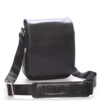 Pánská taška přes rameno na doklady černá - Gerard Henon Lennard černá