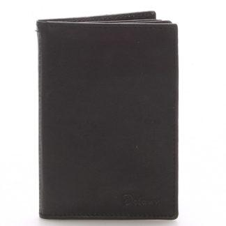 Kožená dokladovka černá - Delami 8220 černá